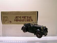 JEM METAL MINIATURES 9 MG M-TYPE 1930 BLACK WHITE-METAL HANDBUILT BOXED 1:43