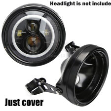 "7"" Motorcycle LED Headlight HeadLamp Housing Bucket Cover For Harley Sporster"
