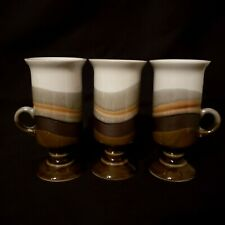 Otagiri Pedestal Irish Coffee Mug Cup Hand Crafted Stoneware Lot of 3