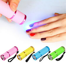 Mini Portable LED Nail Dryer Curing Lamp Flashlight Torch UV Gel Nail Polish