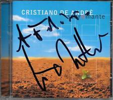 "CRISTIANO DE ANDRE' - RARO CD CON AUTOGRAFO "" SCARAMANTE """