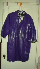 WIPPETTE Kenn Sporn Ken shiny PURPLE jacket rain coat VINYL PVC vtg women L XL