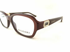 New Authentic BVLGARI 4071-B 5177 Brown Pearl 53mm Eyeglasses Italy w/Serial# RX