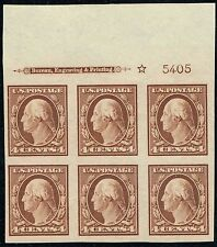 #346 TOP PB #5405 1908 4 CENT IMPERF ISSUE MINT-OG/LH