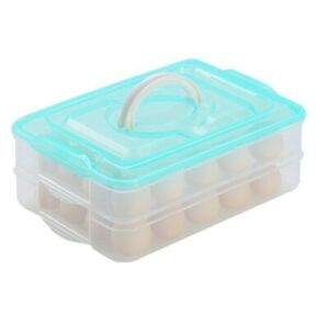 Deviled Egg Storage Tray Holder Camping Carrier Container Refrigerator 40 Large