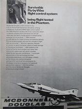 10/72 PUB MCDONNELL DOUGLAS F-4 PHANTOM 12200 USAF FLY BY WIRE FLIGHT SYSTEM AD