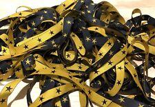 STAR RIBBON - BLACK & YELLOW 5 METRES/16MM SEWING CRAFTS