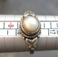 13.80 Carat SOLID 925 STERLING SILVER WHITE PEARL JEWELRY RING US 7.5