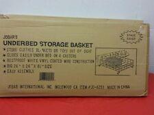 New 2 WHITE Rustprooff White Vinyl  Wire Under BED STORAGE BASKETS 24x 24x 6 1/2