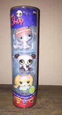 New In Pkg Littlest Pet Shop Winter 3-Pack Dog #175 Panda #176 Kitten #177 LPS