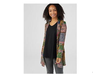 Attitudes by Renee Mixed Media Swing Jacket Patchwork Size Large BNWT