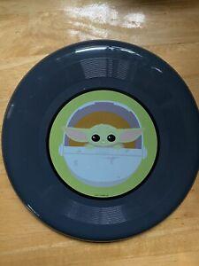 Disney Star Wars Baby Yoda Grogu Mandalorian Dark Grey Frisbee Toy 9 Inch NEW!