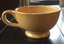 Pier 1 Imports Toscana Gold Handled Soup Bowl with Handle Mug