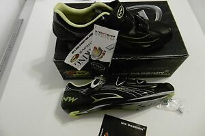 NORTHWAVE Black/Lime Shoes Carbon Composite Air Flow System Size 45 New In Box