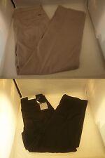 New Greg Norman Golf Pants Black Beige Flat Technical 29 30 32 34 36 40 42
