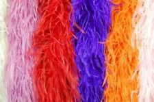 """20 OSTRICH FEATHER BOAS 4 Ply MANY COLORS 72"""" Costumes/Hats/Craft/Bridal/Party"""