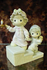 """Precious Moments- #104217 """"...And To All A Good Night""""-Girl & Boy On Stairs-NIB"""