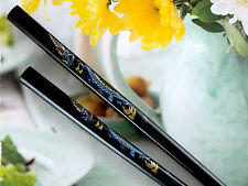 CHINESE BLACK LUCKY DRAGON CHOPSTICKS HAIR STICK PIN JAPANESE BIRTHDAY PARTY