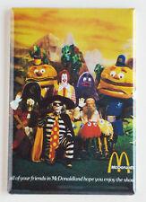 McDonald's Mascots FRIDGE MAGNET (2.5 x 3.5 inches) ronald hamburgler poster
