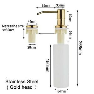 300ML Kitchen Sink Soap Dispenser Black ABS Dispenser Detergent Liquid Soap Loti