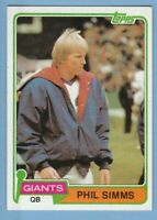 1981 Topps #55 Phil Simms New York Giants 2nd year