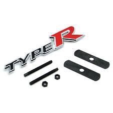 Black TYPER TYPE R Metal Chrome Hood Front Grille Grill Badge Emblem For AC HO