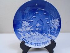 1986 Bing and Grondahl B & G Christmas Plate Silent Night Mint Condition