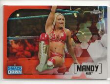 2020 Topps Chrome WWE Orange Refractor #42 Mandy Rose /25