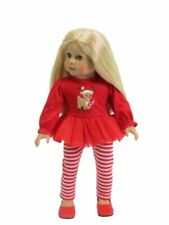 "Rudolph Reindeer Dress + Leggings Set 18"" Doll Clothes Fit American Girl Dolls"