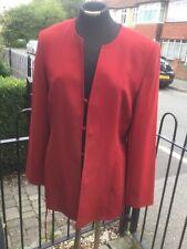 New Wool Trouser Suit Stunning 2 Piece Dark Red Sz 12 Medium Marks Spencer