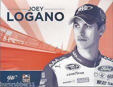 "2016 JOEY LOGANO ""AAA INSURANCE FORD FUSION"" #22 NASCAR SPRINT CUP POSTCARD"