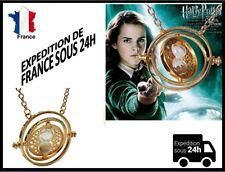 collier Harry Potter+pendentif sablier retourneur de temps Hermione Top qualité