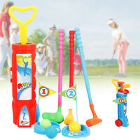 Kids Plastic Golf Training Set Sports Fitness Exercise Interactive Toy Funny