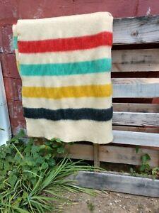 Vintage Faribo 100% Wool Blanket GC