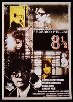 Manifesto Otto And Half 8 1/2 Frederick Fellini Mastroianni Claudia Cardinale