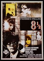 Werbeplakat Acht E Mezzo 8 1/2 Friedrich Fellini Mastroianni Jomos Kardinal P06