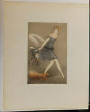 Des Ormeaux, Femme et satyre, gravure à l'eau forte, couleurs, années 30