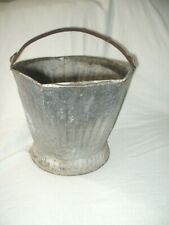 Vtg Hot Ash Carrier Bucket Wood Fireplace Fire Pit Steel Container Can Handle