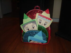 LOUNGEFLY DISNEY SLEEPING BEAUTY FAIRY GODMOTHERS MINI BACKPACK~ WITH TAGS~ NEW