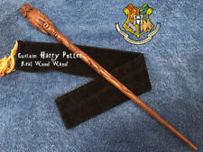 "Custom Harry Potter Owl Wand 15"", REAL WOOD Hand Crafted Rare Hedwig, Pottermore"