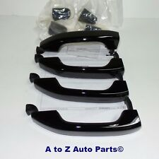 NEW 2015-2018 Chevy Silverado or GMC Sierra GLOSS BLACK Door Handle,SET OF 4,OEM