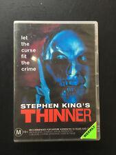 Stephen King THINNER DVD R4 ROBERT JOHN BURKE ***Ex Rental