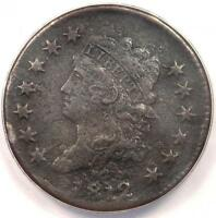 1812 Classic Liberty Large Cent 1C Coin - ANACS VF30 Details - Rare Date Penny!