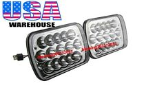 "PAIR 7x6"" LED CREE LIGHT BULBS CRYSTAL CLEAR SEALED BEAM HEADLAMP HEADLIGHT 45W"