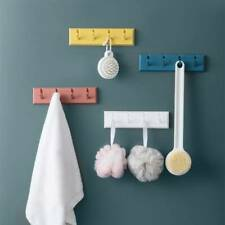 Foldable 5 Hooks Wall-Mounted Rack Coat Hook Rack Towel Wooden Hanger Hold Sory