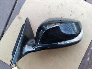 14 - 15 INFINITI Q50 DRIVER DOOR MIRROR 7 WIRES BLACK