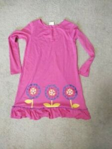 Hanna Andersson Pink Tulip Dress Long Sleeve Fall Size 160 Girls 12-14