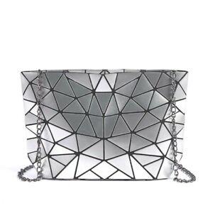 Metallic Geometric Shoulder Bag