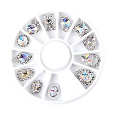 12pcs Small Shape Crystal AB Crystal Rhinestone Nail Art Accessories Supply