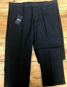 Mens Jacamo Black Checked Smart Suit Trousers - 38 Waist 31 Leg